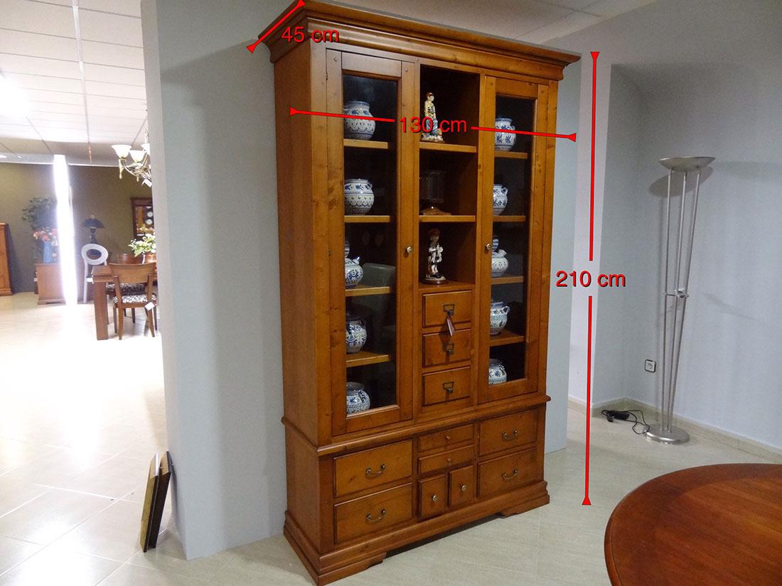 Mueble vitrina - Librería medidas