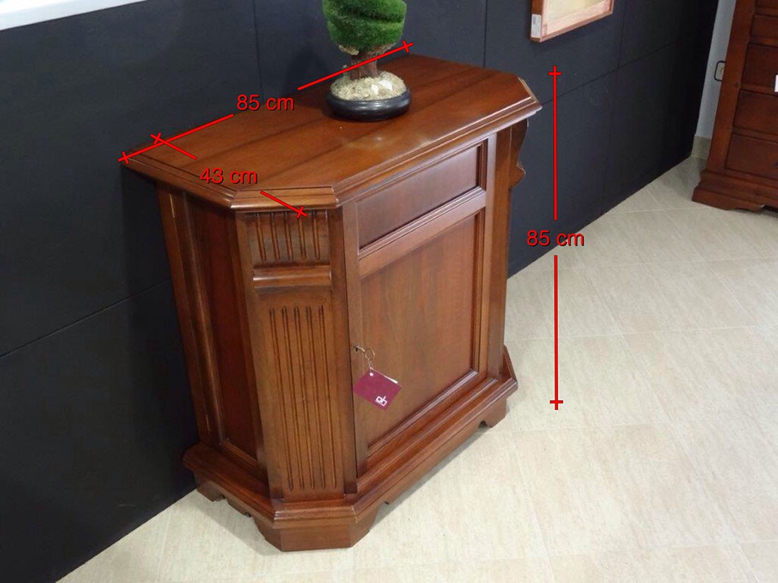 Botellero giratorio madera de nogal macizo medidas