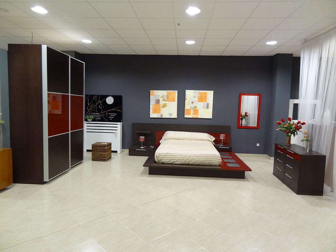 Dormitorio completo madera de roble