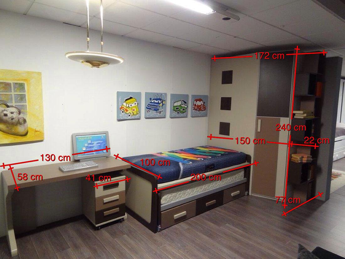 Mueble dormitorio juvenil - mediidas