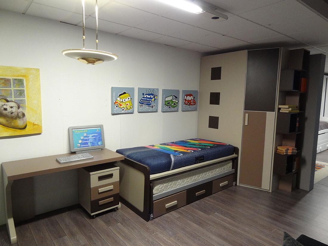 Mueble juvenil en texturizado y color arena f j3 ornia home - Muebles asturias liquidacion ...