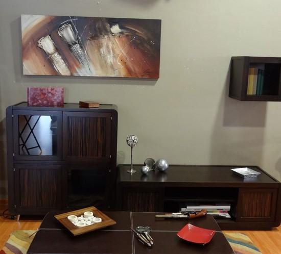 Mueble de salón en roble