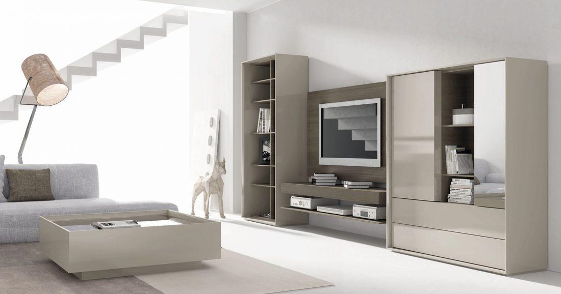 Mueble multimedia en el hogar